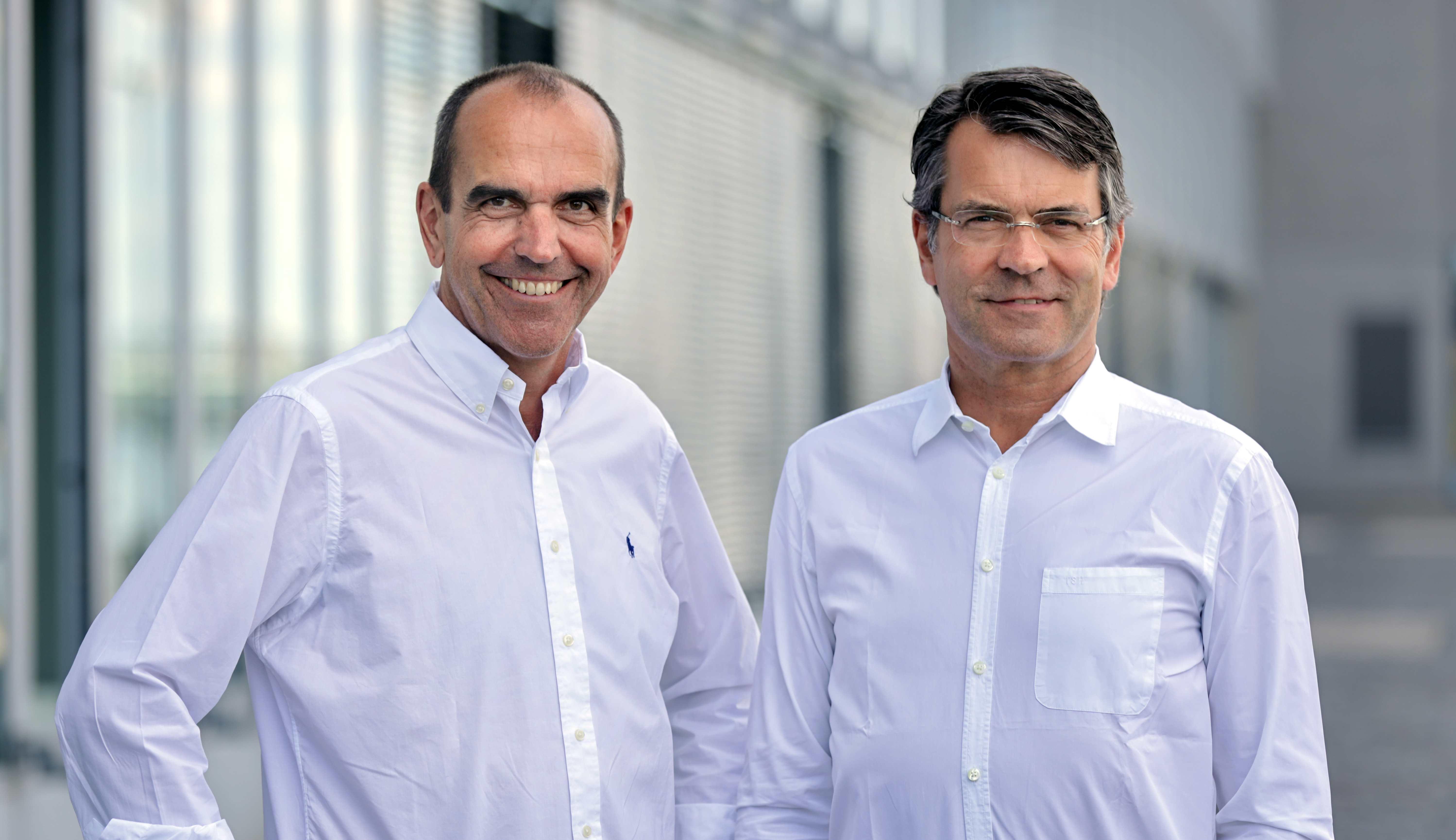 Dr. Karsten Niehus (l. ) und Thomas Schulte-Huermann aus der Geschäftsführung des GMS.